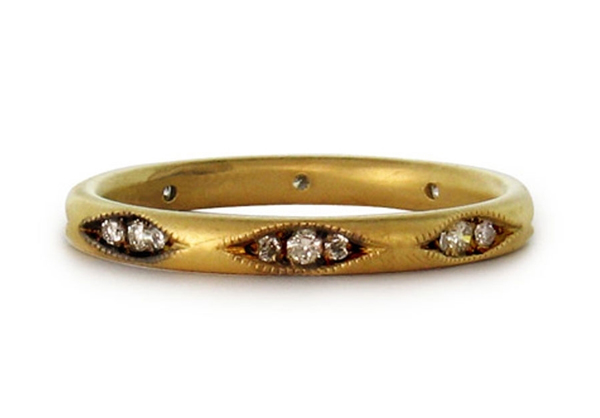 wedding ring and engagement ring ideas Clara band recycled gold