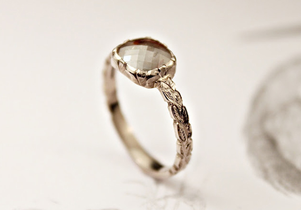 wedding ring and engagement ring ideas opaque diamond from rust