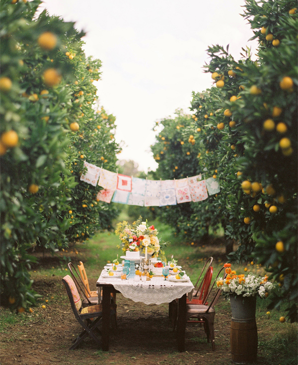 wedding reception ideas - intimate outdoor wedding