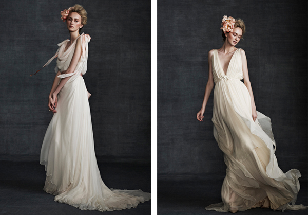 Wedding dress traditionally english and classic feminine styling