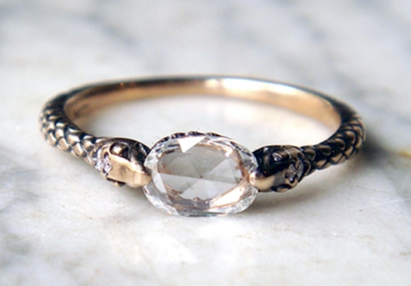 wedding ring and engagement ring ideas Rapture ring with gem