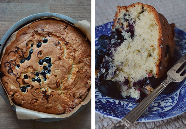 beautiful cake - blueberry, lemon and mint drizzle cake - delicious feat image