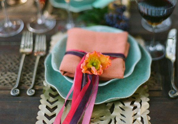 bright fun mexican inspired place setting_feat