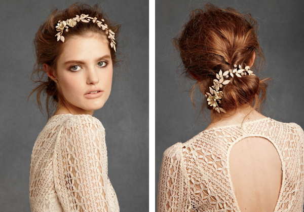 delicate flower crown BHLDN