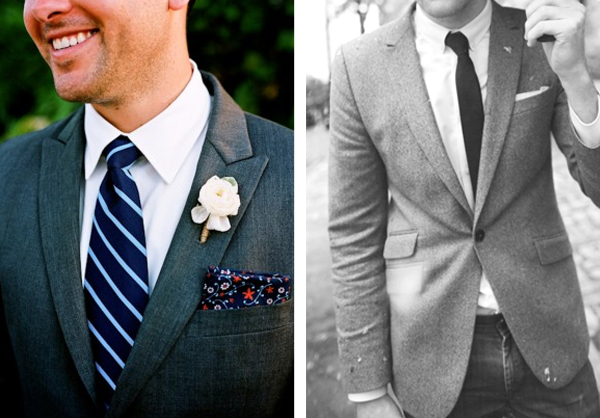 Mens wedding attire idea - pocket squares