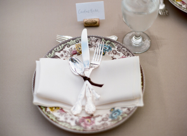 Wedding reception ideas - pretty place settings