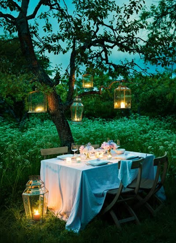 Wedding ideas intimate garden party for Table jardin beauty