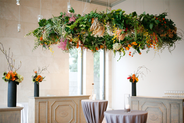 Wedding decoration ideas - hanging chandeliersLucy Says I Do
