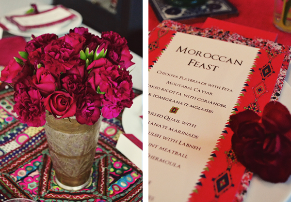 moroccan evening - floral centrepiece and place settings styled by lucysaysido