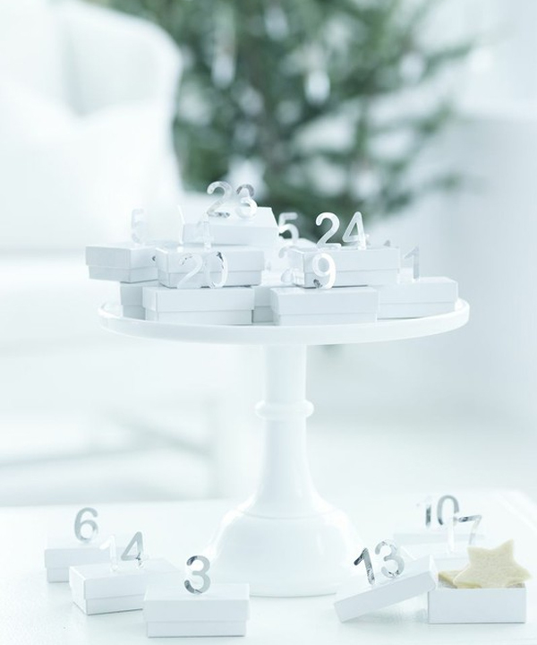 Sweet Paul handmade advent calendar white and silver