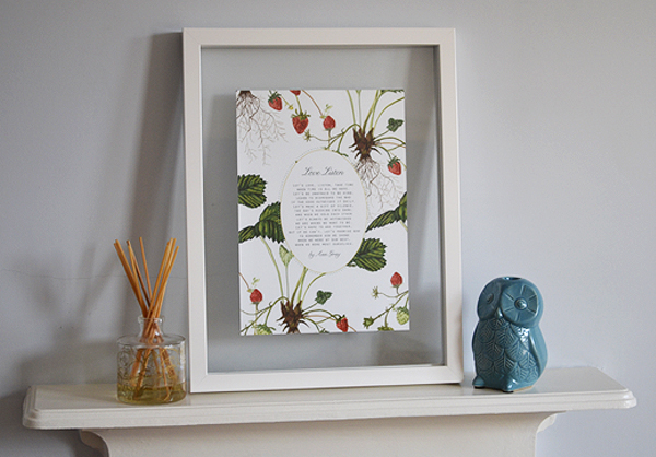 Personalised framed Wedding vows and readings and my favourite words.