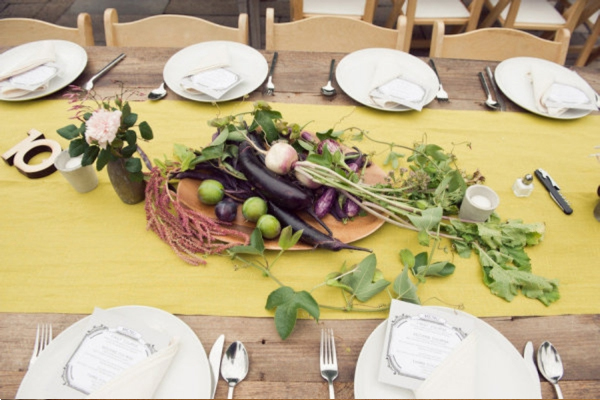 decorating your tables with vegetables