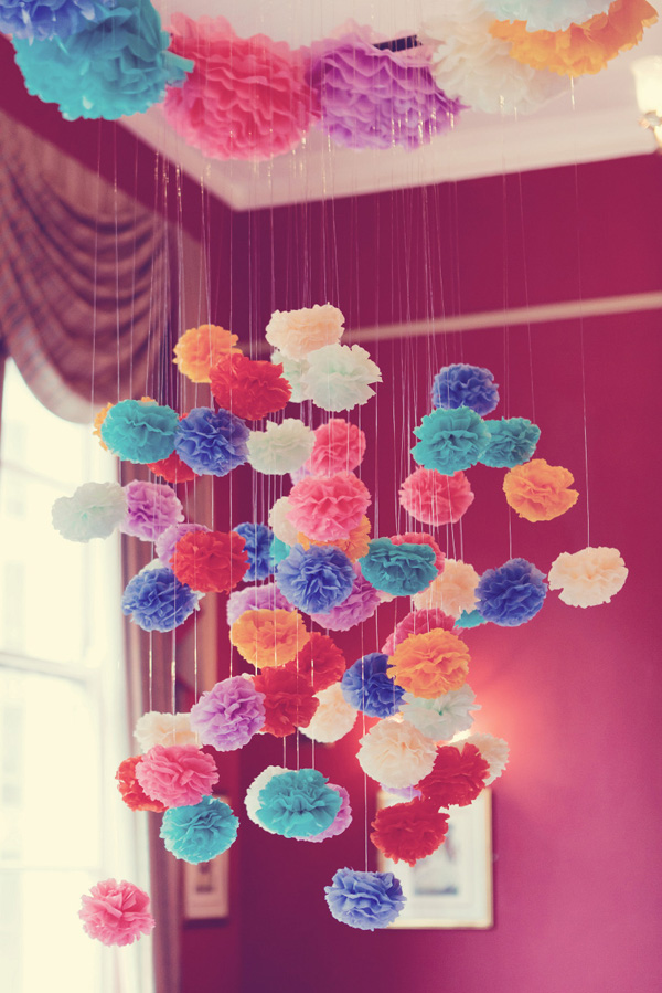 wedding decor ideas poms poms