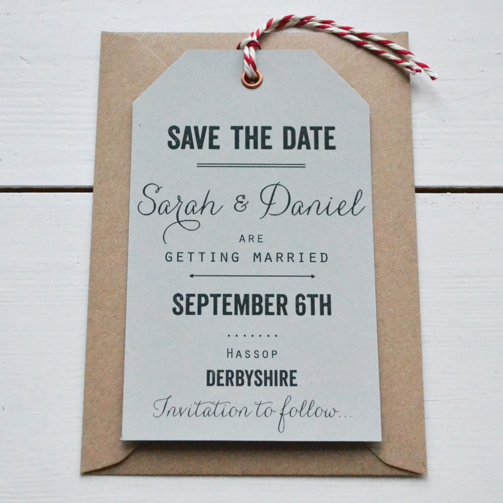 Brooke + Ryan's Luggage Tag Save the Dates