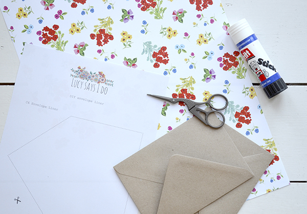 HOW TO – DIY envelope liners | Lucy Says I Do