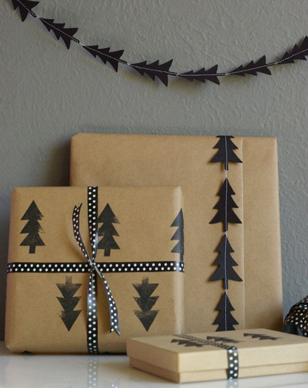 christmas tree wrapping paper wrapping ideas