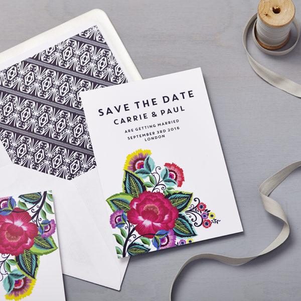 Lucy says I do save the date_Floral folk multi