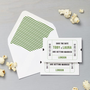 Lucy says I do save the date_cinema green