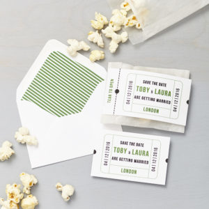 Lucy says I do save the date_cinema green popcorn