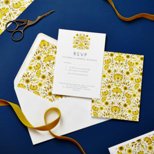 Lucy says I do wedding RSVP love amongst the flowers late summer