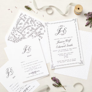 Lucy says I do wedding invitation_daisy chain