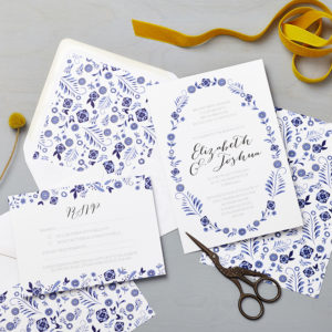 Lucy says I do wedding invitation_danish blue