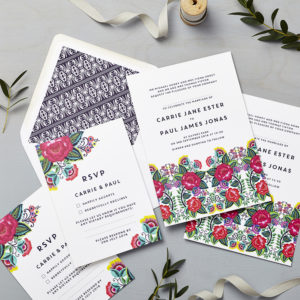 Lucy says I do wedding invitation_floral folk multi