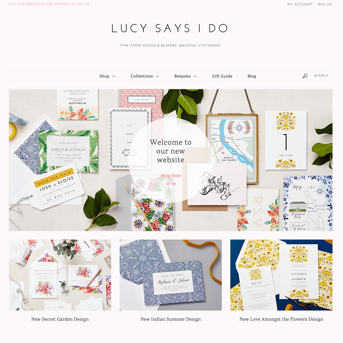 lucy says i do website screenshot