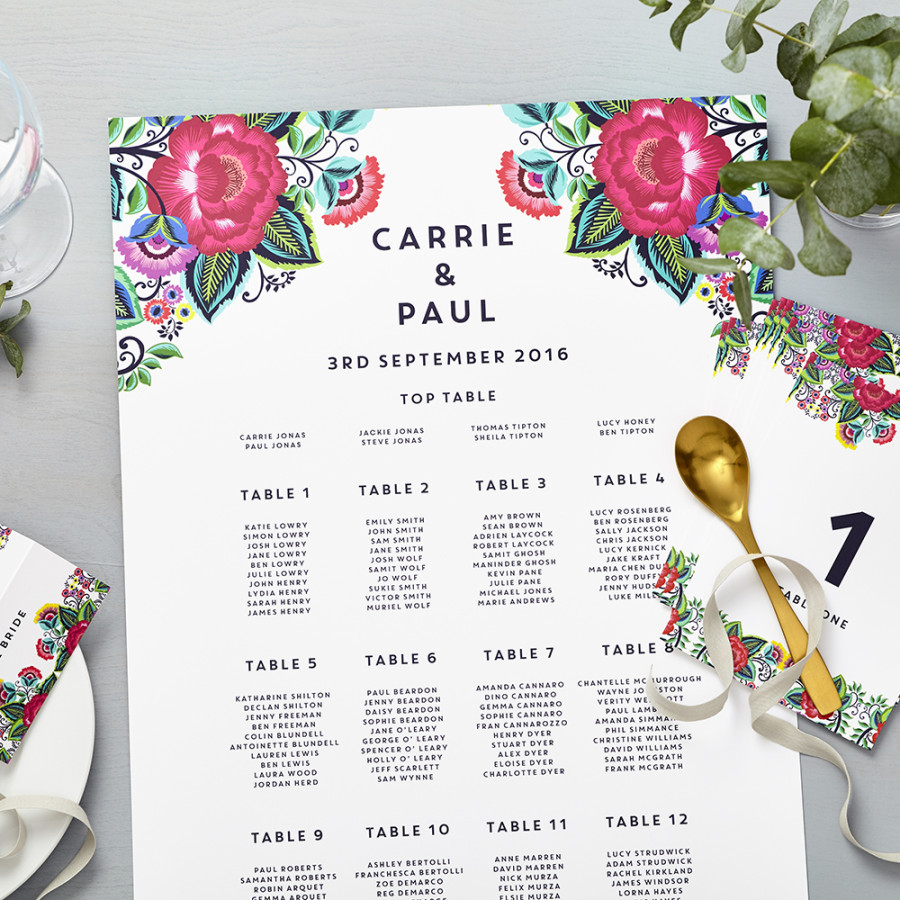Floral Folk Personalised Thank You Cards | Lucy Says I Do