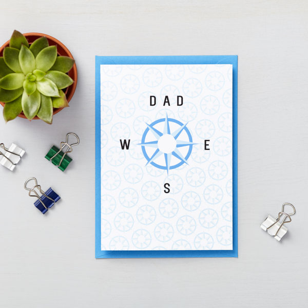 Lucy says I do greetings cards_fathers day_compass