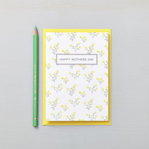 Lucy says I do greetings cards_mothers day daisy yellow