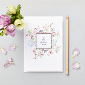 Lucy says I do greetings cards_mothers day lovely mum rose