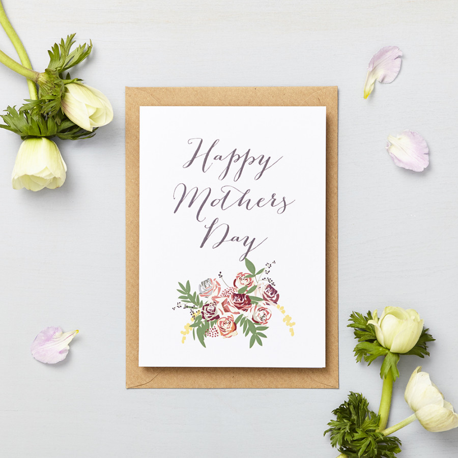 Floral Mothers Day Card With Bouquet Lucy Says I Do
