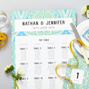 Lucy says I do mandala blue wedding seating plan014