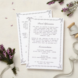 Lucy says I do daisy chain wedding information cards003