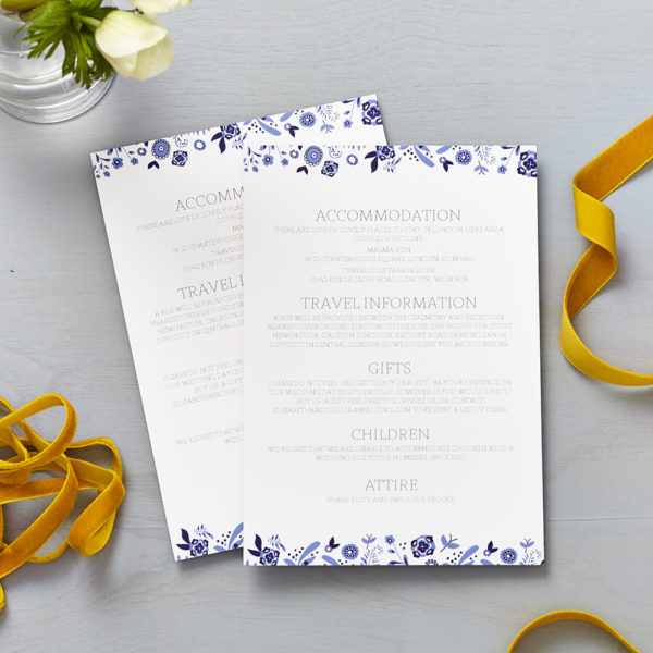 Lucy says I do danish porcelain blue wedding information cards011