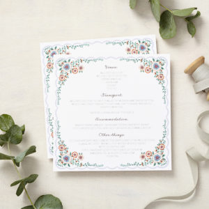 Lucy says I do english summer garden wedding information cards002