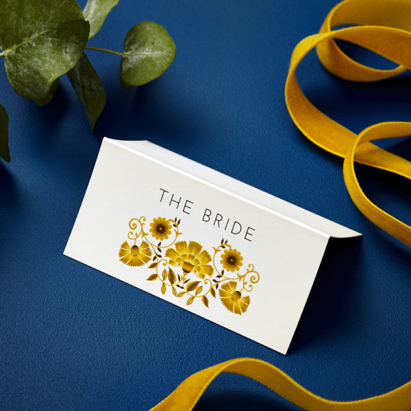 Lucy says I do late summer love amongst the flowers wedding place card004
