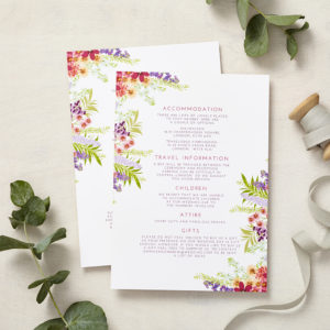 Lucy says I do secret garden wedding information cards001