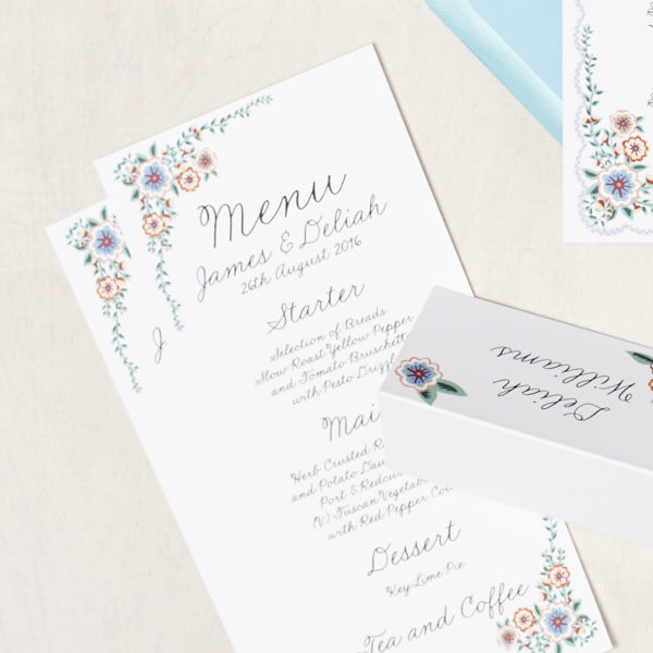 Lucy says I do wedding stationery menu007