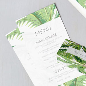 Lucy says I do wedding stationery menu009