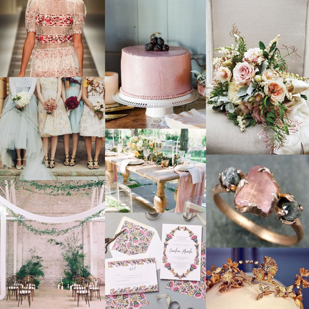 Lucy says I do Martha wedding stationery collection mood board