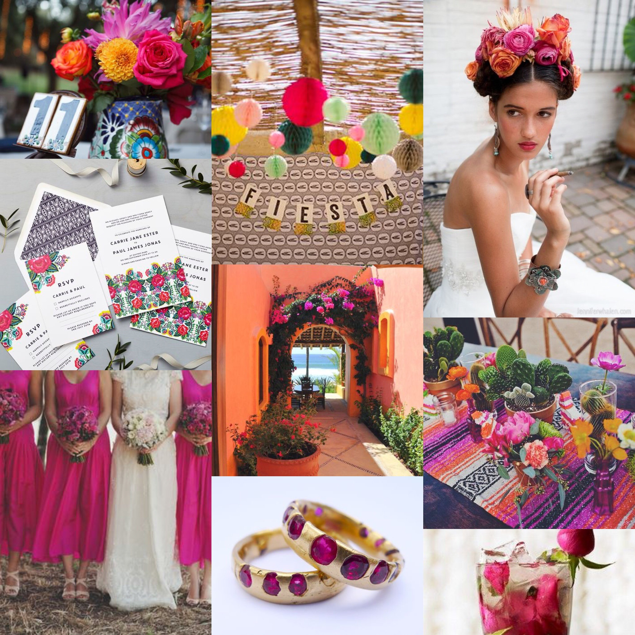 floral folk mood board