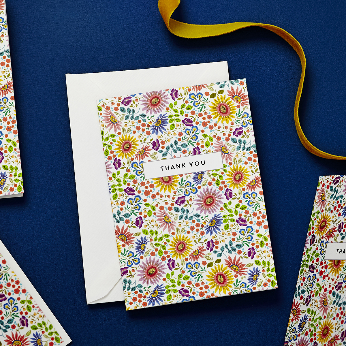 Bright Flowers Personalised Thank You Cards