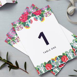 Lucy says I do floral folk multi table number