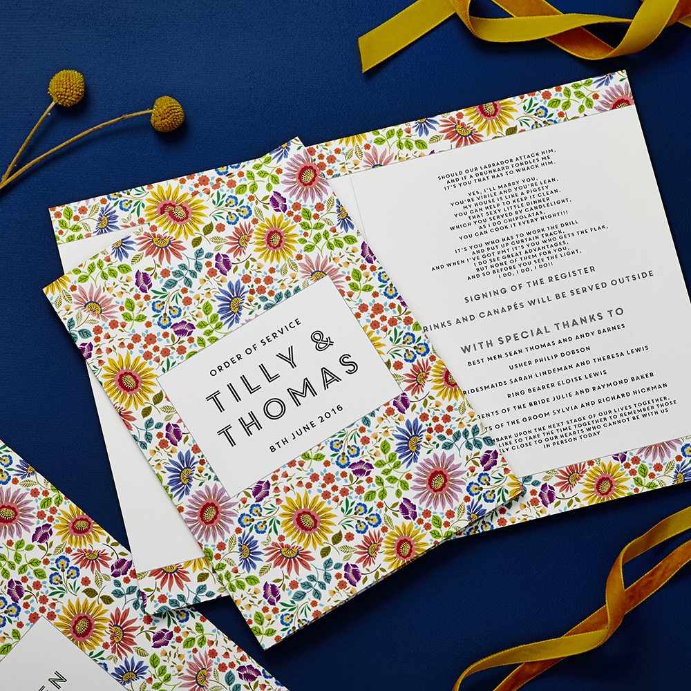 Bright Flowers Order Of Service Cover