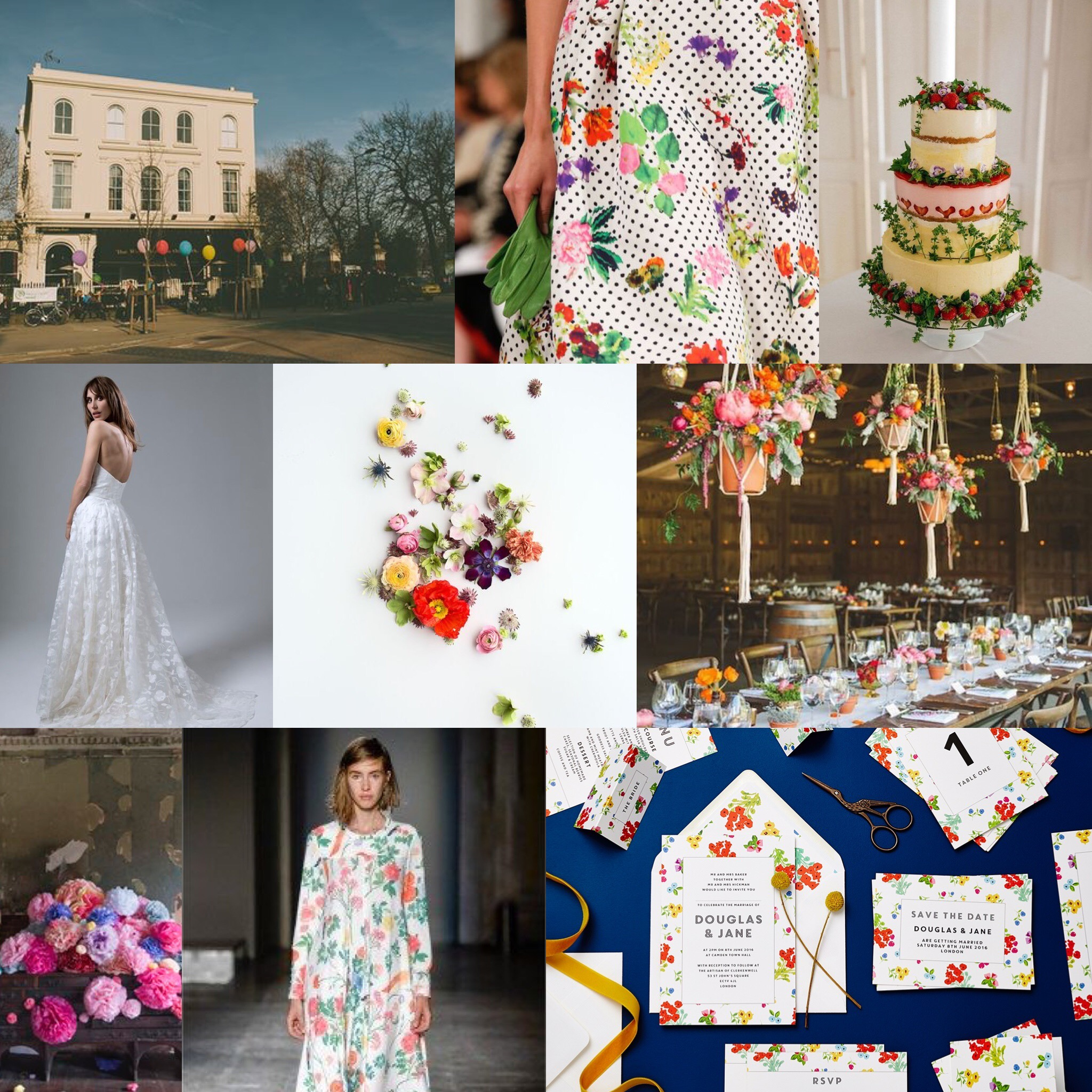 lucy says I do Ditsy wedding stationery design mood board