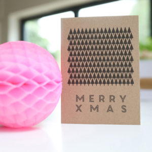 LSID brown kraft christmas tree card