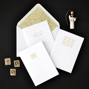 LSID gold foil typographic charity christmas cards