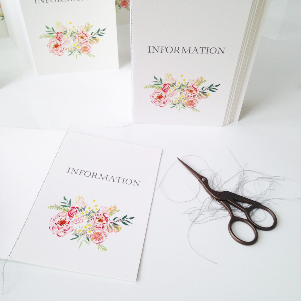 bespoke wedding invitation stationery flowers summer pastel